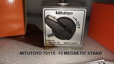 Made In Japan Mitutoyo Magnetic Base 7011 S -10 With Fine Adjusting Arm Boxed