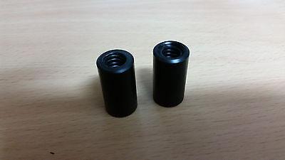 2pcs Trapezoidal Nut Tr10x2 Pom-c Delrin Size 16x25 Black 3d Printer