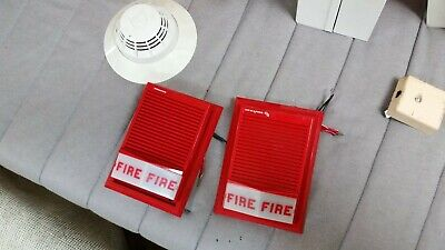 Edwards Vintage Fire Alarm Horns With Smoke Detector