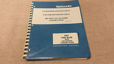 Tektronix 7b87 Time Base Service Instruction Manual