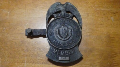 central Massachusetts police association member fop automobile topper  plaque