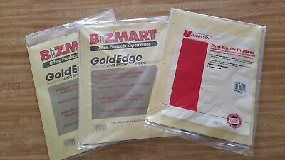 Lot of 3 New Sealed Ring Binder Indexes, 2 Packs Colored 1 Clear 21 Pages Total