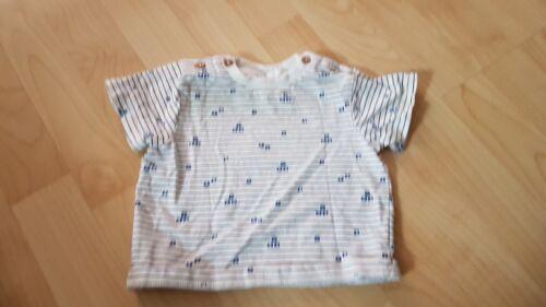 Auflösung baby tshirt Oberteil weiß blau topomini Gr. 62/68