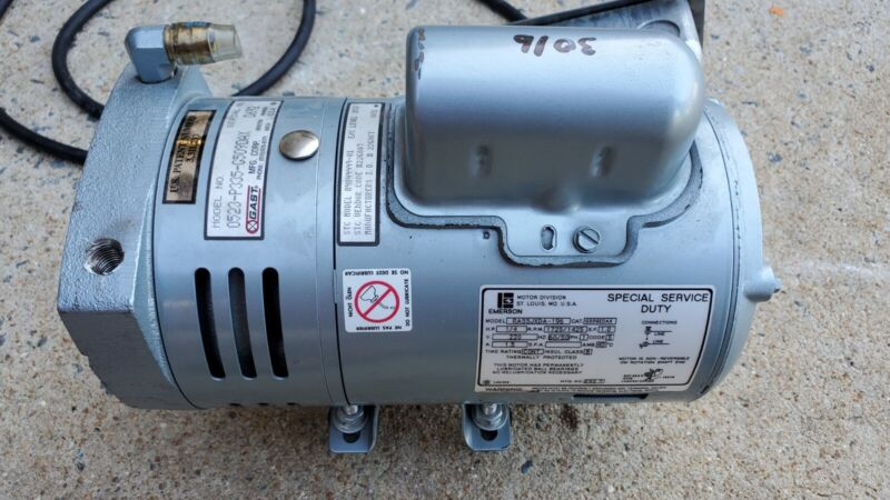 2206 EMERSON VAC PUMP  RA55JXDA-I96 1/4hp G509EDAX GAST 0523-P335-G509DAX 220V