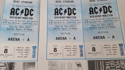 3 x ac dc tickets Springfield Ipswich City Preview