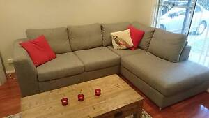 OZdesign Furniture 3 Seater Sofa + Chaise Berowra Heights Hornsby Area Preview
