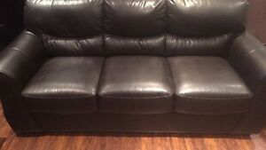 Leather couch / divan cuir