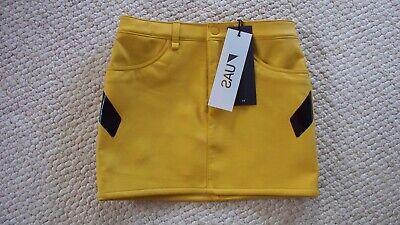 Women's Faux Leather Mini Skirt UNDER ARMOUR SPORTS UAS Sz 0 w/Stretch $180 NWT!