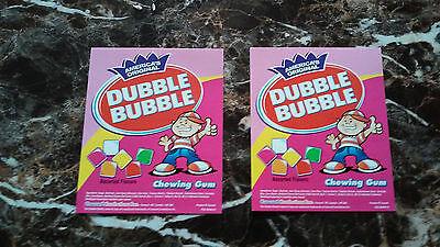 Double Bubble Bulk Candy Vending Machine 2 Candy Labels - New