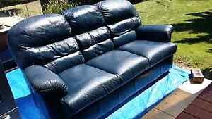 Genuine Leather 3 seater lounge Lesmurdie Kalamunda Area Preview