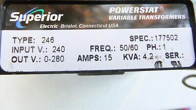 Superior Electric Powerstat 246 Variac 240120v 15a