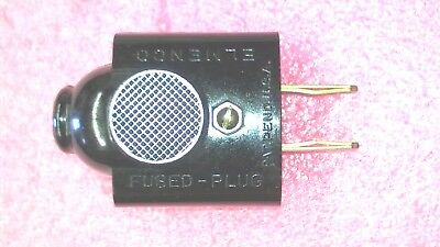 Elmenco Fused Ac Plug Uses Two Agc Type Used On Older Fence Boxes Nos