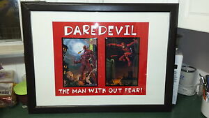 Daredevil framed comic book hero