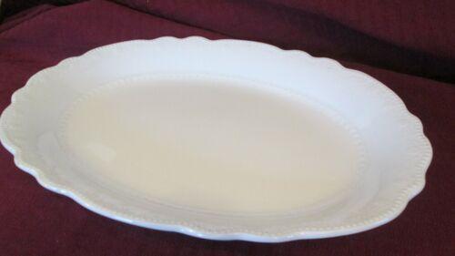 W.H. Grindley White Large Platter Scalloped Turkey Size Ironstone Scalloped