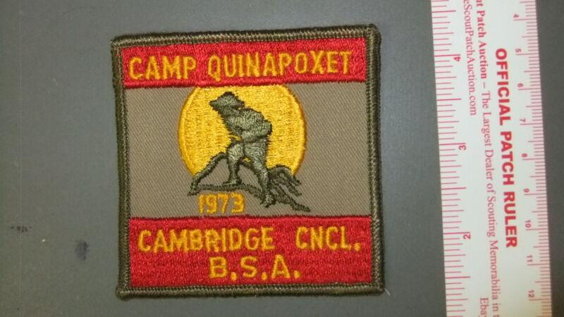 Boy Scout Camp Quinapoxet Cambridge Council 3541II
