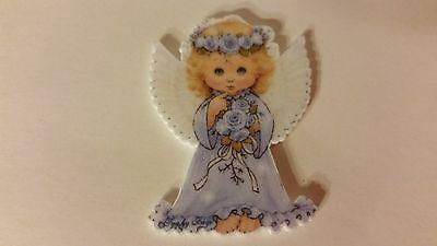 Flat Back Resins (Lot of 2 for $1.50) Little Angel Girl Dressed in Blue, Wings](Flats For Little Girls)