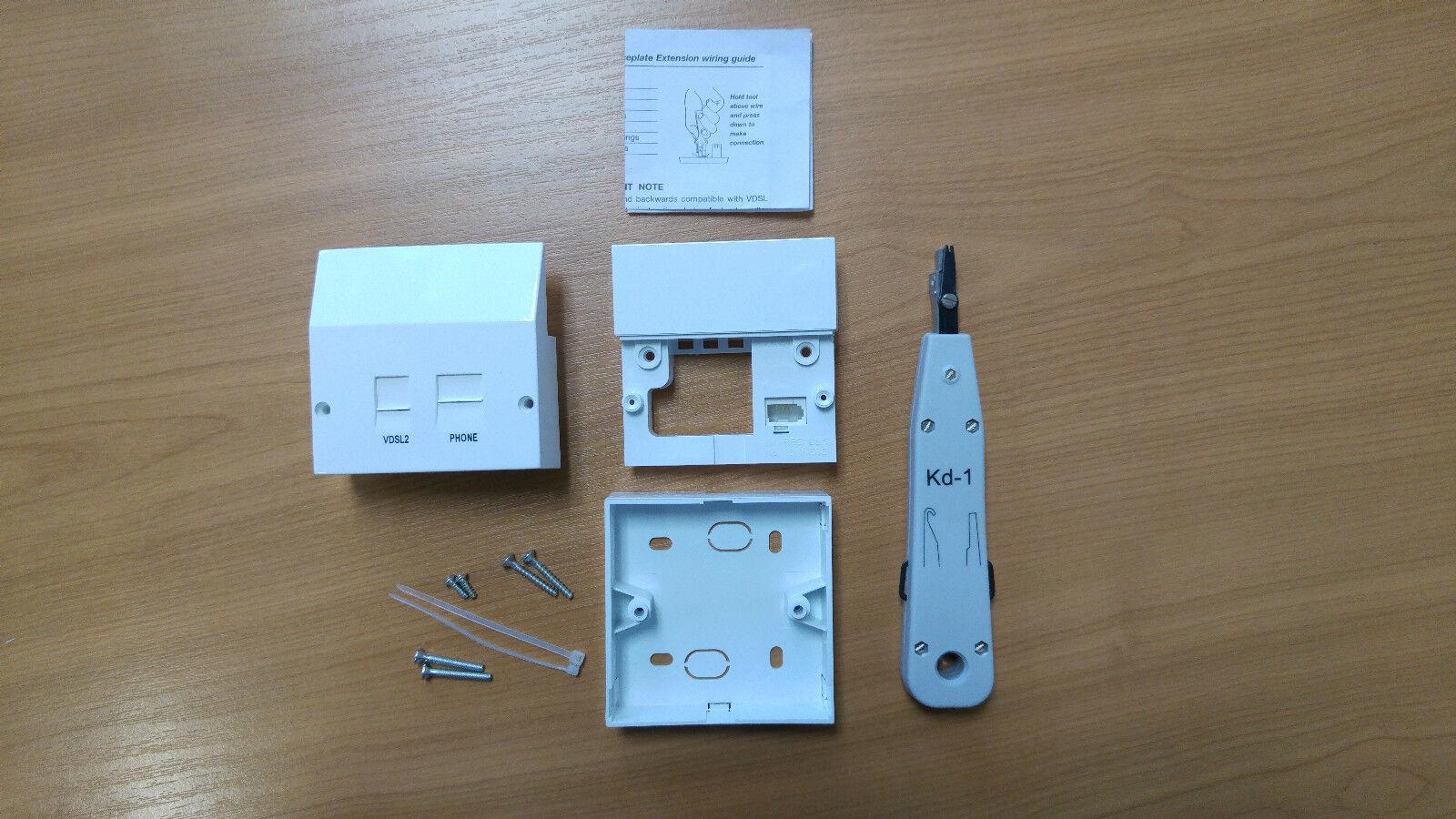 BT OPENREACH TYPE Master Telephone Socket Nte5 Box Tool Vdsl2/adsl ...