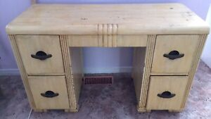 Walnut dressing table with mirror