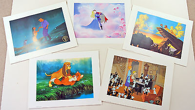 Five Different Disney Prints (Commemorative Lithographs from Disney Store)