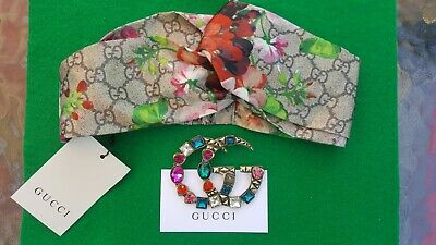 Authentic Gucci Bloom Headband With VIP Brooch