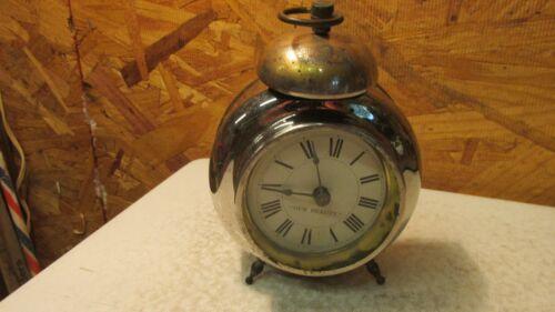 """Antique """"Our Beauty"""" Peg Leg Alarm Clock"""