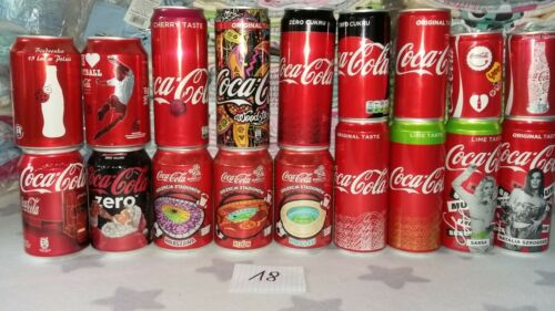 Coca Cola empty cans x 18 from Poland