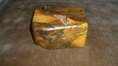 "Cedar Burl 7 Piece Puzzle Box – Signed ""D. Wood""1995 Hand Carved Trinket Box"