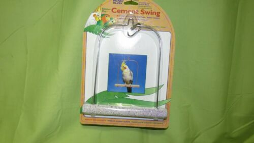 "BA222 Bird Cement Swing 7""x8"" Metal frame, Helps Trim Beaks & Nails, Cockatiels"