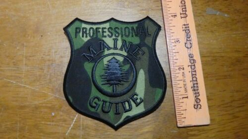 MAINE PROFESSIONAL HUNTERS GUIDE NRA FIREARMS  PATCH OBSOLETE  bx v #151
