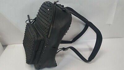 Authentic Italy Kolet XVII Studded Black Leather Mini Backpack Grunge 13