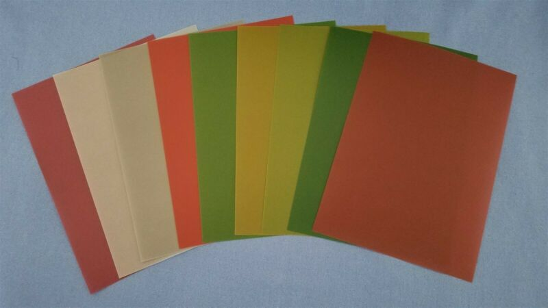 "Anna Griffin Christmas Solid Color Vellum Sheets 5"" x 7"" - Set of 9"