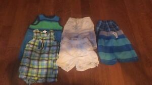 12 month boys shorts & rompers