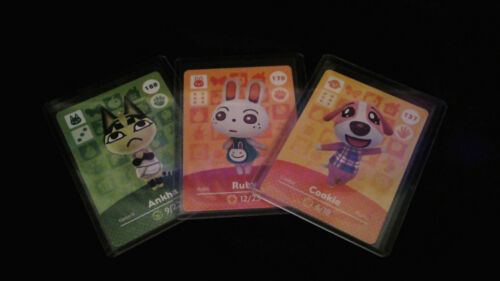 Animal Crossing Amiibo Card Series 2 Unscanned Individually Toploader & Sleeved