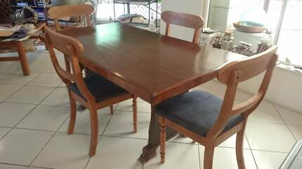 Timber Dining Table and 4 Chairs