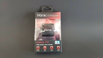 iHome Computer Stable Link USB Multi Card Reader Sealed! NEW Multi Link Usb
