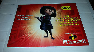 The Incredibles Collectible Lithograph Best Buy Exclusive SEALED - Buy The Incredibles