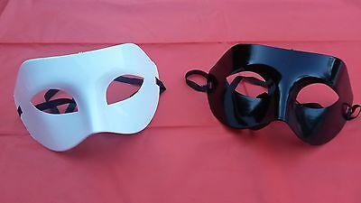 Plain Black/White Eye Masks  Masquerade Face Mask Party/Halloween ](Black And White Halloween Faces)