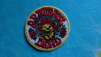 Grateful Bear - Grateful Dead Bear & Roses 3 Inch Iron On Patch