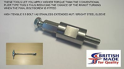 M6 - Engineers Heavy Duty High Tensile (8.8)  Rivnut Rivet Nut Nutsert Tool