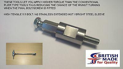 M6 - Engineers Heavy Duty High Tensile (8.8)  Rivnut Insert Setting Tool Nutsert