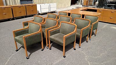 Conference Room Or Guest Chairs Wood 4-leggedcasterswheels Wedeliverlocallyca