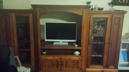 tv cabinet timber Mount Annan Camden Area Preview