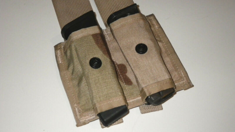 NEW MOLLE II 40mm Grenade Holders Double Pouches AIRSOFT / MILSIM Desert Color