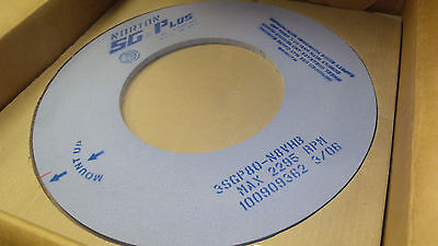 "Norton SG Surface grinding wheel 20"" x .500"" x 10"" 3SGP80-N8VHB New in Box"