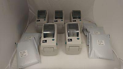 Lot Of 5 Zebra Lp 2824-z Direct Thermal Printer With Usb Port 282z-21100-0001