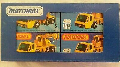 Matchbox Superfast Lesney Crane Truck 4 pk  Dealer Promo ( RARE)