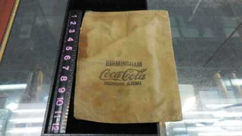 VINTAGE BIRMINGHAM COCA -COLA ZIPPER MONEY DEPOSIT BAG--BIRMINGHAM,ALABAMA