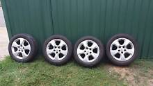 Set of 4 205/55R16 Tyres on 5x110 +35offset Alloy rims 80+% Tread Strathpine Pine Rivers Area Preview