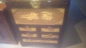 Ornate Camphor Wood Chest with Drawers Richmond West Torrens Area Preview