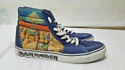 Vans Iron Maiden Power Slave SK8 HI Top Shoes US 10.5 10 1/2 Powerslave Hitop